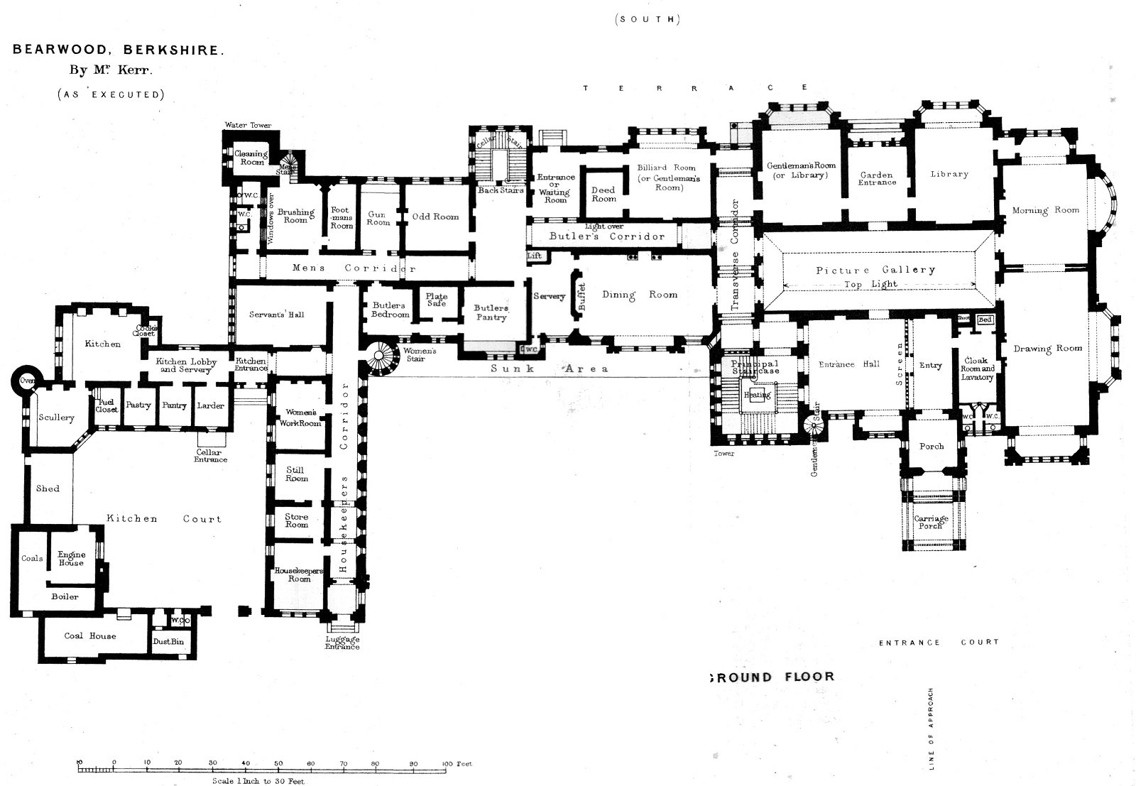 Family estate american studies for Manor floor plans